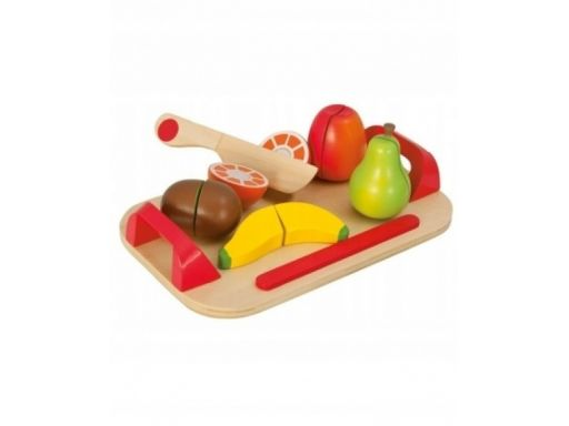 Eichhorn drewno deska do krojenia+owoce 12el rzepy
