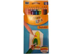 Kredki ołówkowe niełamliwe bic tropicolors2 12 kol