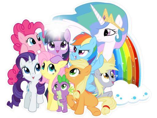 Naklejki na ścianę 3d my little pony kucyki 120cm