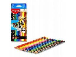 Kredki ołówkowe trójkątne color peps 12 szt