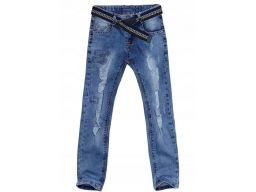 Spodnie jeans slim fit bis r 10 - 134/140 cm rurki