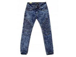 Jeansy elastyczne rurki r 6 około 116/122 cm