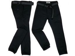 Spodnie wizytowe prążek r 146 cm czarne