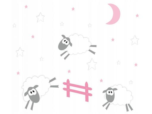 Naklejka owieczki barany księżyc gwiazdki 200x120
