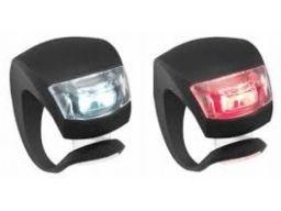 Lampki led 2 szt do wózków lub rowerów red + white