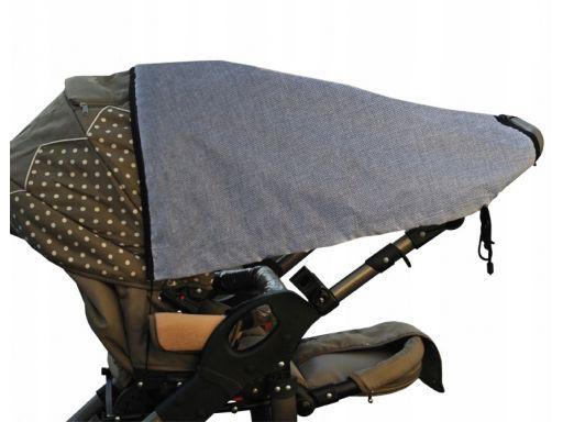 Daszek przeciwsłoneczny materiał len do wózków