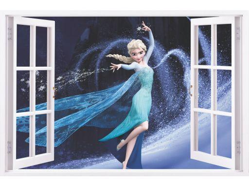 Naklejki na ścianę do pokoju dziecka okna 3d 70cm