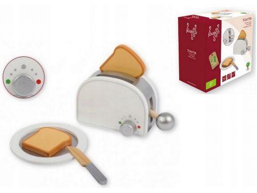 Drewniany toster z akcesoriami joueco