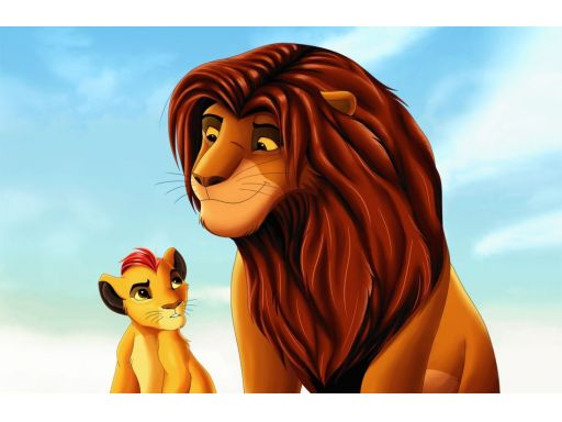 Naklejka na ścianę król lew 200x130cm fototapeta