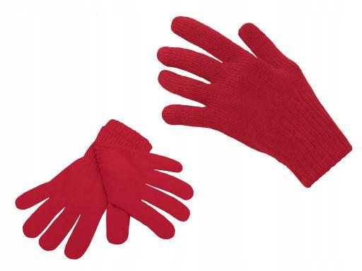 Polskie rękawiczki młodzież dzieci biały czerwony