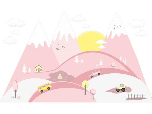 Naklejki dla dzieci góry skandynawskie wzory 130cm