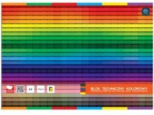Blok techniczny a4/10 kolorowy szkolny interdruk