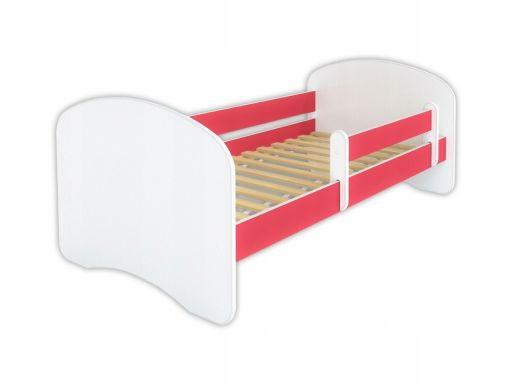 Łóżko dla dziecka z barierką happy 160x80 - różowe