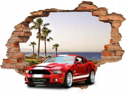 Naklejki mur samochody mustang auta sportowe 160cm
