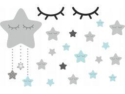Naklejki gwiazdki śpiące oczka 150x100cm bal4002
