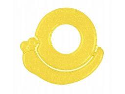 Babyono silikonowy gryzak chłodzący ślimak żółty