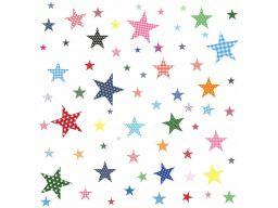 Naklejki na ścianę gwiazdki gwiazdy kolory