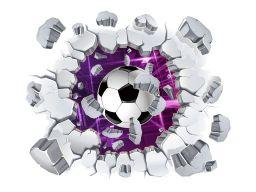 Naklejki na ścianę 3d piłka nożna piłki 3d 120cm