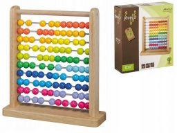 Liczydło drewniane kolorowe kulki joueco 12m+