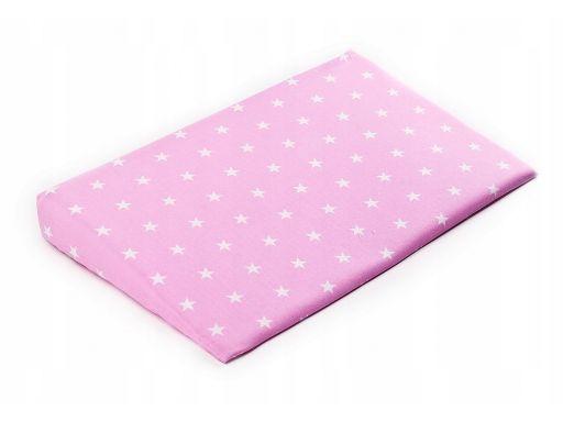 Poszewka na poduszkę klin 38x60 gwiazdki różowe