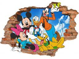Naklejki na ścianę 3d myszka miki bajki 160x110cm