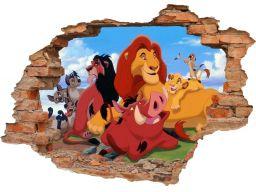 Naklejki na ścianę 3d król lew 160x110cm (lew1081)