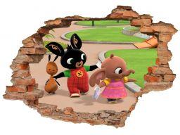 Naklejki na ścianę 3d królik bing bajki 160x110cm