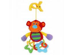 Baby-mix grzechotka pluszowa z klipsem małpka