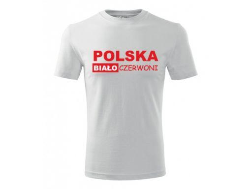 Koszulka dziecięca dla małego kibica polska 5-6lat