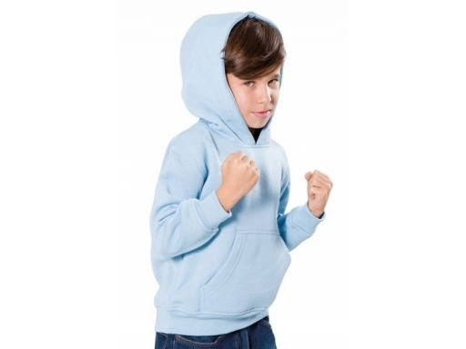 Bluza dziecięca z kapturem - kangurek z nadrukiem