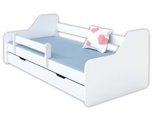 Łóżko dione 160x80 z szufladą i materacem+barierka