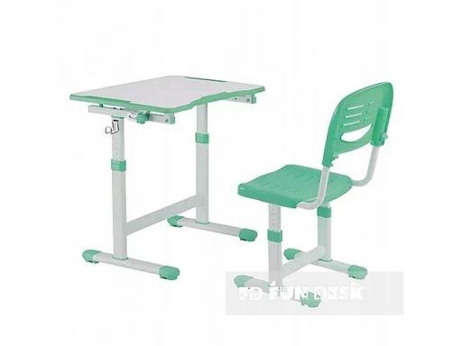 Piccolino ii green regulowane biurko + krzesełko