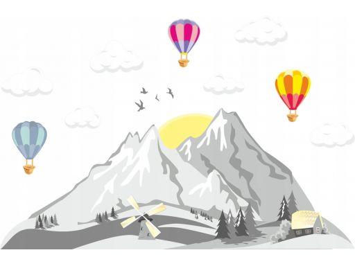 Balony dla dzieci chmurki góry naklejki 165x100cm