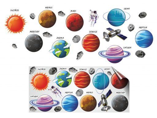 Naklejki dla dzieci kosmos planety układ słoneczny
