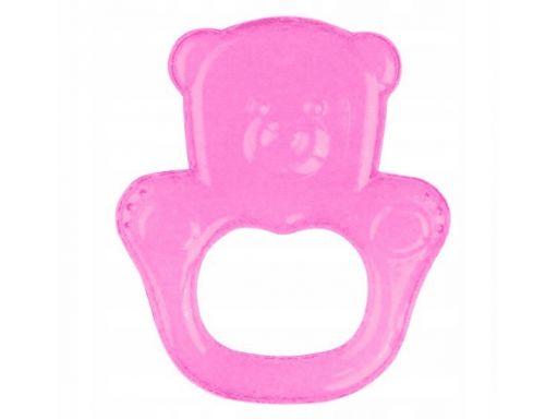 Babyono gryzak żel miś różowy