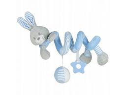 Baby-mix spiralka do wózków królik niebieski