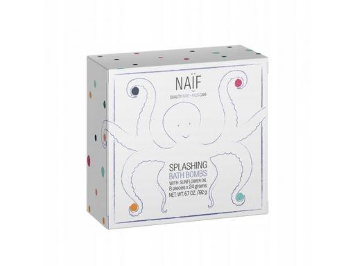 Musujące tabletki do kąpieli dla dzieci naif 8szt