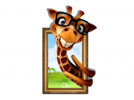 Naklejki na ścianę żyrafa 3d obraz 3d 130x80cm