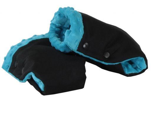 Mufki łapki rękawiczki minky do wózków sanek