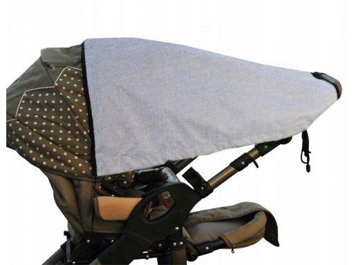 Daszek przeciwsłoneczny do wózków len+lamówka