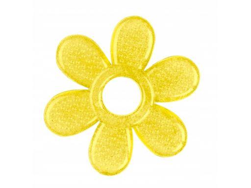 Babyono silikonowy gryzak chłodzący żółty