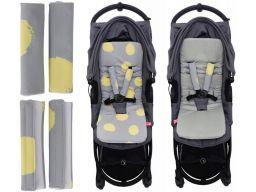Antywstrząs wkładka do wózka+ochraniacz motherhood