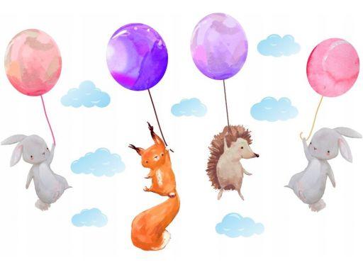 Naklejki na ścianę balony chmurki 150cm past4505